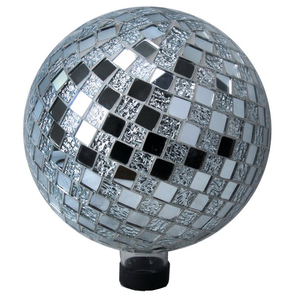 Garden Disco Mosaic Glass Gazing Globe by VCS