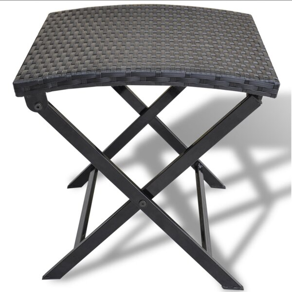 Gallion Wicker Folding Patio Dining Chair by Wrought Studio