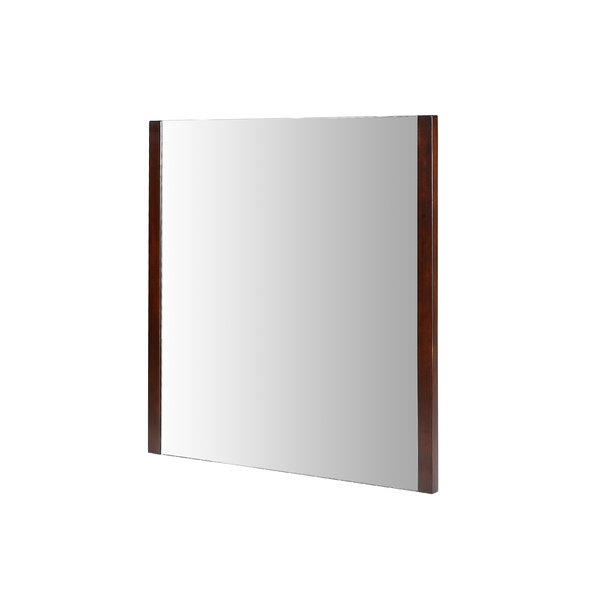 Hobgood 30 Mirror - Dark Walnut by Bloomsbury Market