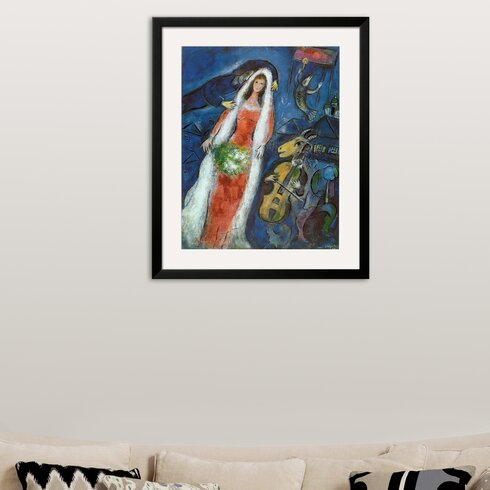 Wildon Home ® \'La Mariee\' by Marc Chagall Framed Painting Print ...