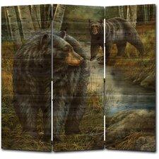 68 x 68 Birchwood Bears 3 Panel Room Divider by WGI-GALLERY