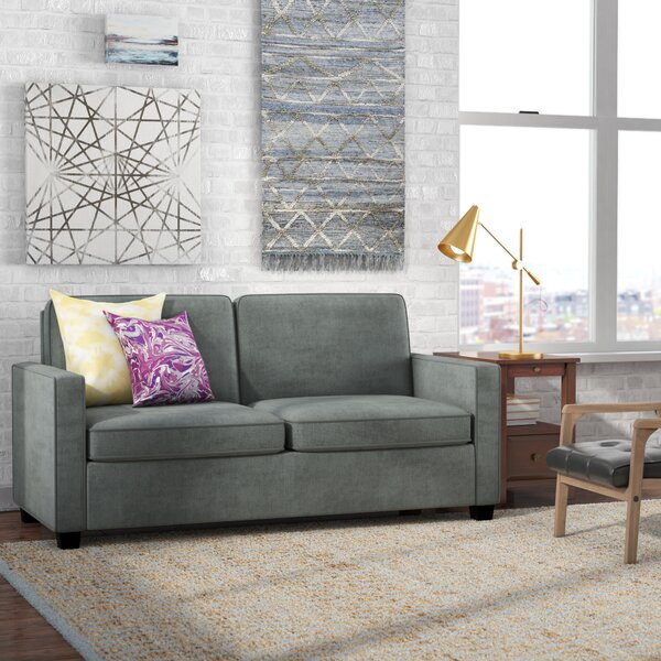 Cabell Velvet Square Arm Sofa Bed By Mercury Row