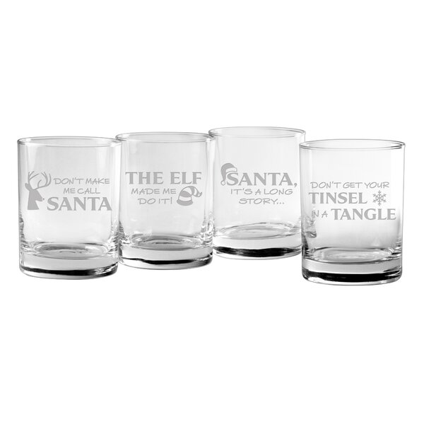 Holiday Hijinks Assortment Rocks 14 oz. Glass Every Day Glass (Set of 4) by The Holiday Aisle