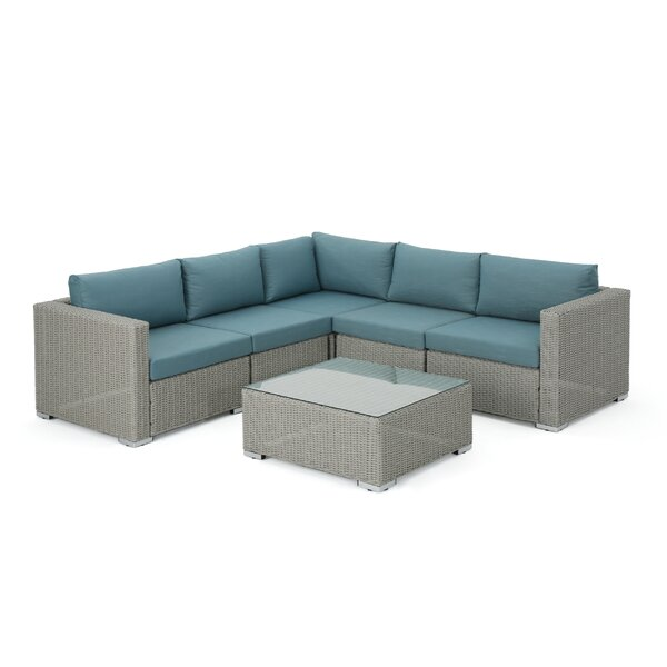 Cabral 6 Piece Sectional Seating Group with Cushions by Sol 72 Outdoor