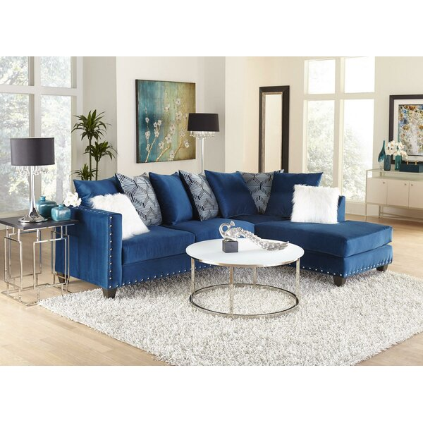 Modern Beautiful Waldrop Right Hand Facing Denim Sectional by Mercer41 by Mercer41