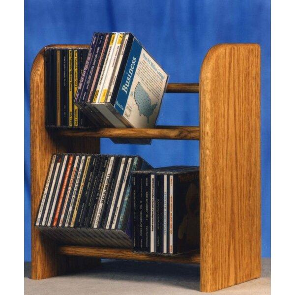 52 CD Dowel Multimedia Tabletop Storage Rack By Rebrilliant