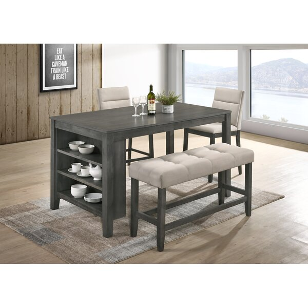 Blood 4 Piece Counter Height Dining Set by Foundry Select