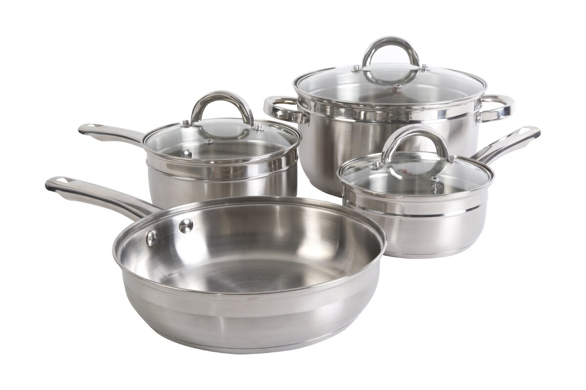 Gibson Glynn 7 Piece Stainless Steel Cookware Set & Reviews | Wayfair