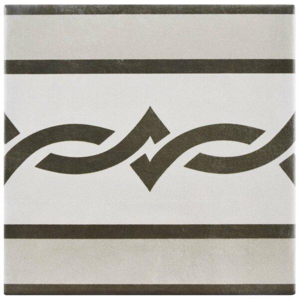 Haute 5.88 x 5.88 Ceramic Field Tile in Gray/Black by EliteTile