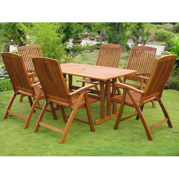 Sabbattus La Coruna 7 Piece Dining Set by Breakwater Bay