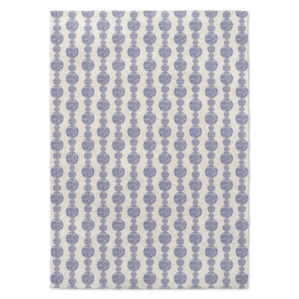 Groce Blue/White Area Rug by Bungalow Rose