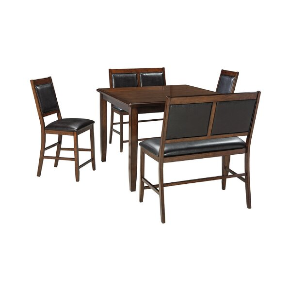 Shofner 5 Piece Counter Height Dining Set by Millwood Pines