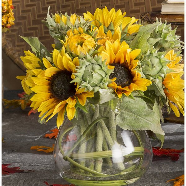 Sunflowers in 5 Clear Glass Jar by T&C Floral Company