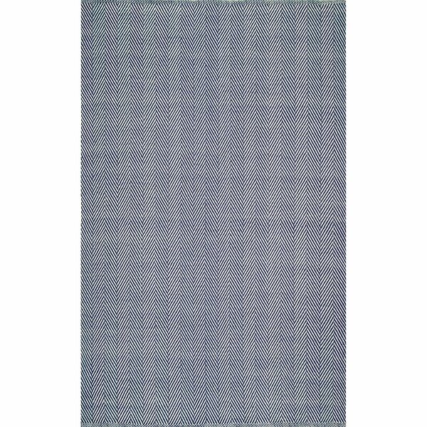 Nathanial Hand-Woven Navy Area Rug by Langley Street