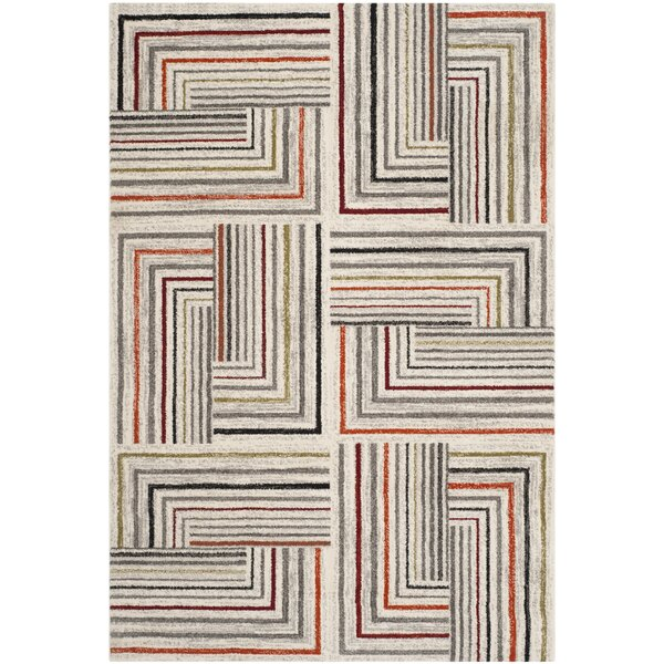 Sirmans Ivory/Grey Area Rug by Wrought Studio