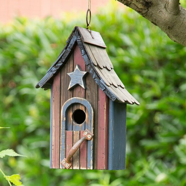 Wooden 10 in x 4.7 in x 6.7 in Birdhouse by Glitzhome