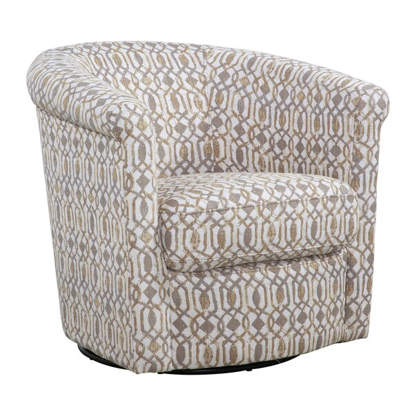 Pinehill Swivel Barrel Chair by Winston Porter