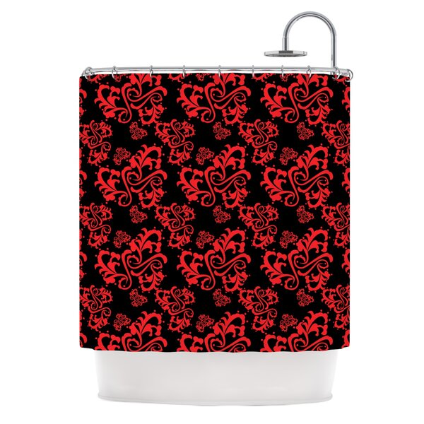 Sweetheart Damask by Mydeas Shower Curtain by East Urban Home