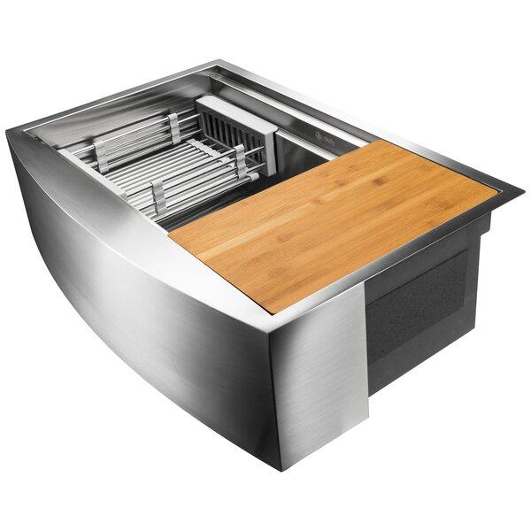 33 x 20 Farmhouse/Apron Kitchen Sink with Basket Strainer by AKDY