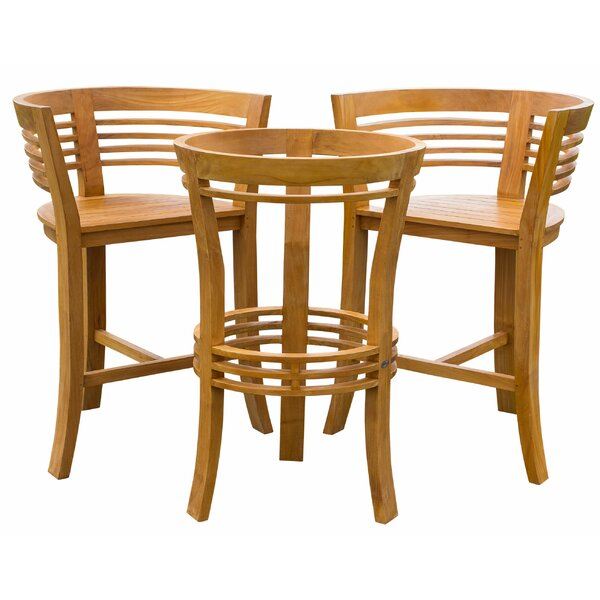 Velasquez 3 Piece Teak Bistro Set by Bayou Breeze