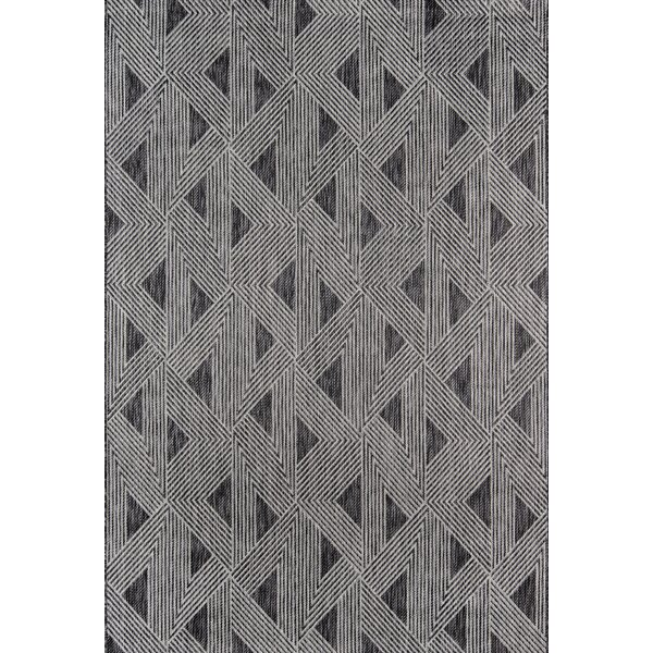 Sardinia Power Loom Charcoal Indoor/Outdoor Area Rug by Novogratz