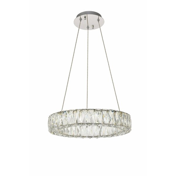 Anessa Unique Wagon Wheel LED Chandelier By Everly Quinn