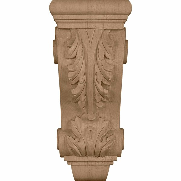 Farmingdale Acanthus 7 3/4H x 3 1/2W x 2 7/8D Small Corbel in Lindenwood by Ekena Millwork