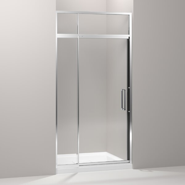 Lattis 42 x 89.5 Pivot Shower Door with Sliding Steam Transom by Kohler