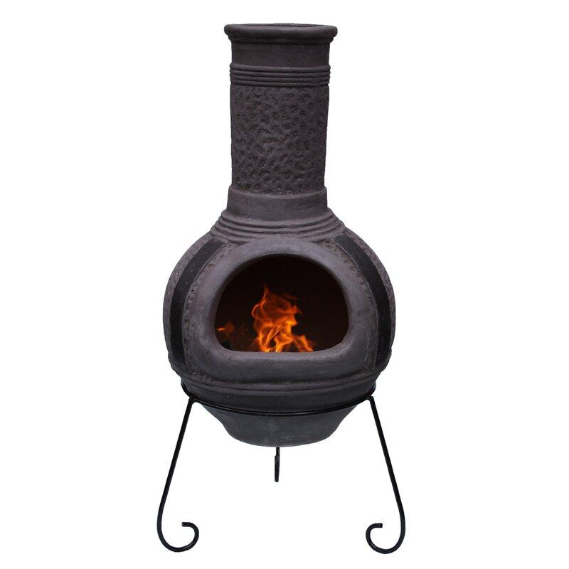 Gardeco Linea Xl Mexican Clay Wood Burning Chiminea Wayfair