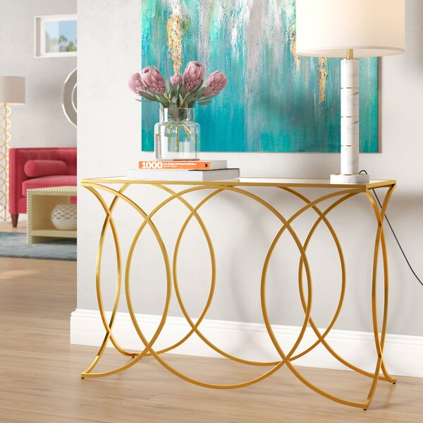 Edgware Geometric Console Table By Everly Quinn