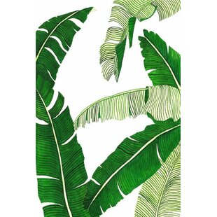 modern contemporary banana leaf wall art allmodern