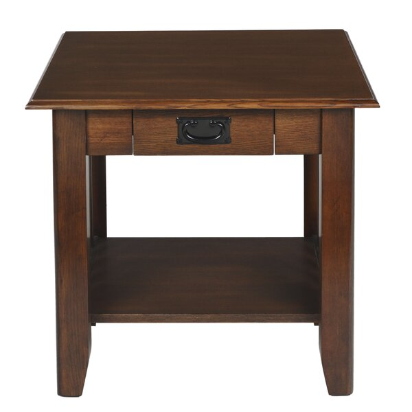 Byrd End Table with Storage by Millwood Pines Millwood Pines