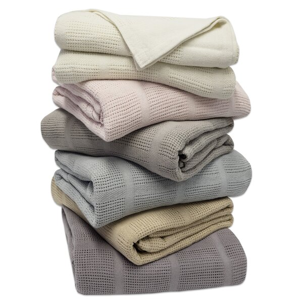 Cozy All Season Cotton Knit Blanket by Eider & Ivory