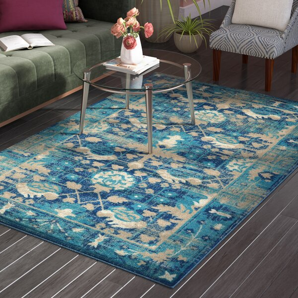 Shelie Mahal Blue Area Rug by Bloomsbury Market