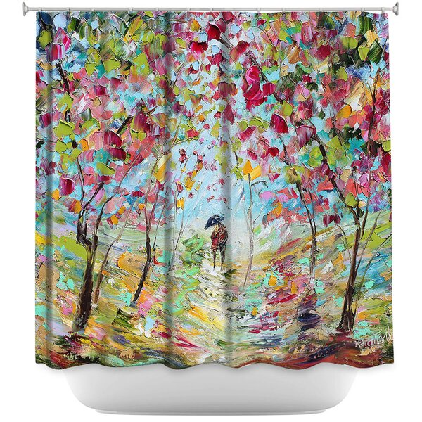 Walk in the Park Shower Curtain by East Urban Home