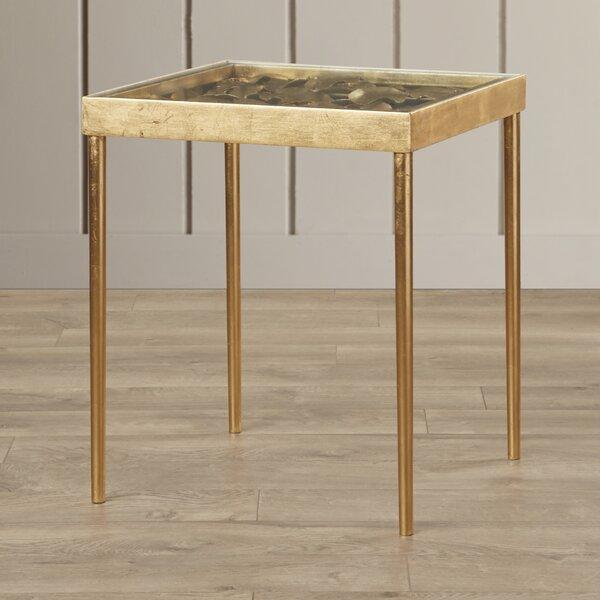 Karina Iron Side Table by Rosdorf Park