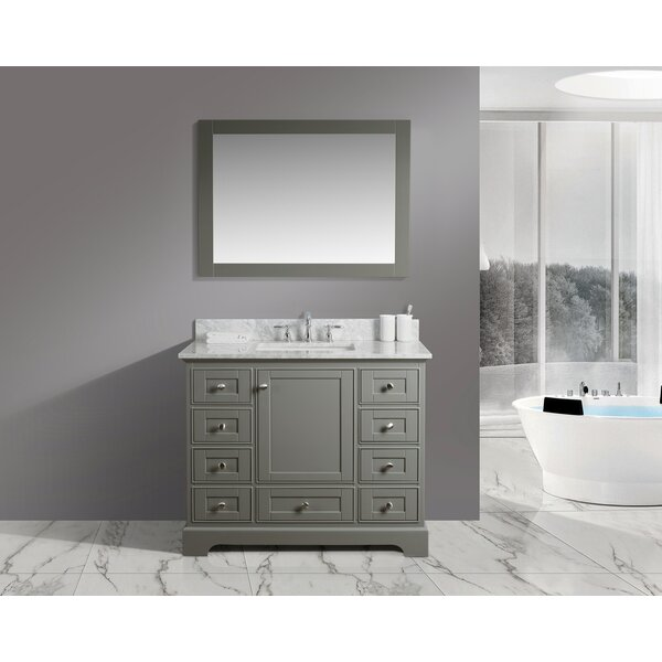 Constance 42 Single Bathroom Vanity Set with Mirror by Charlton Home