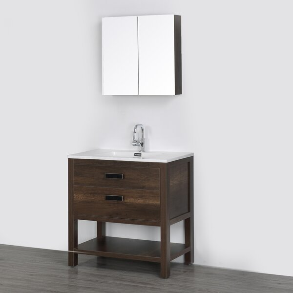 32 Single Bathroom Vanity Set with Mirror by Streamline Bath