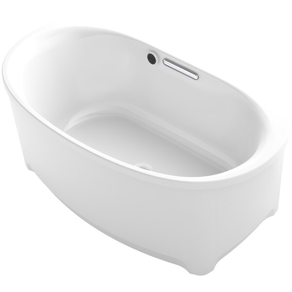 Underscore 60 x 36 Freestanding Soaking Bathtub by Kohler