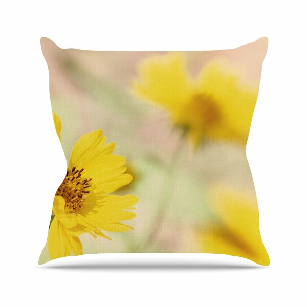 Sylvia Coomes Abstract Flowers Photography Outdoor Throw Pillow by East Urban Home