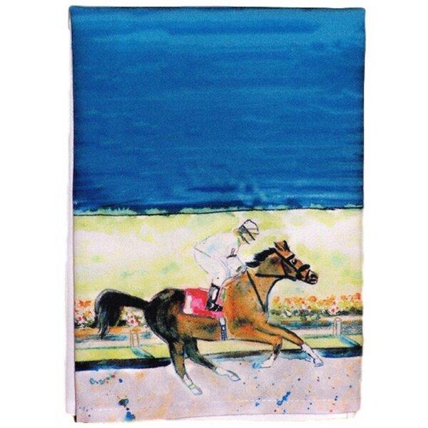 Nyah Racing Horse Hand Towel by Charlton Home