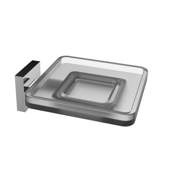 Glass Wall Mount Soap Dish by Eviva