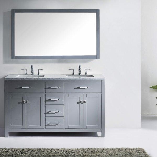 Kenilworth 59 Double Bathroom Vanity Set with Mirror by Highland Dunes