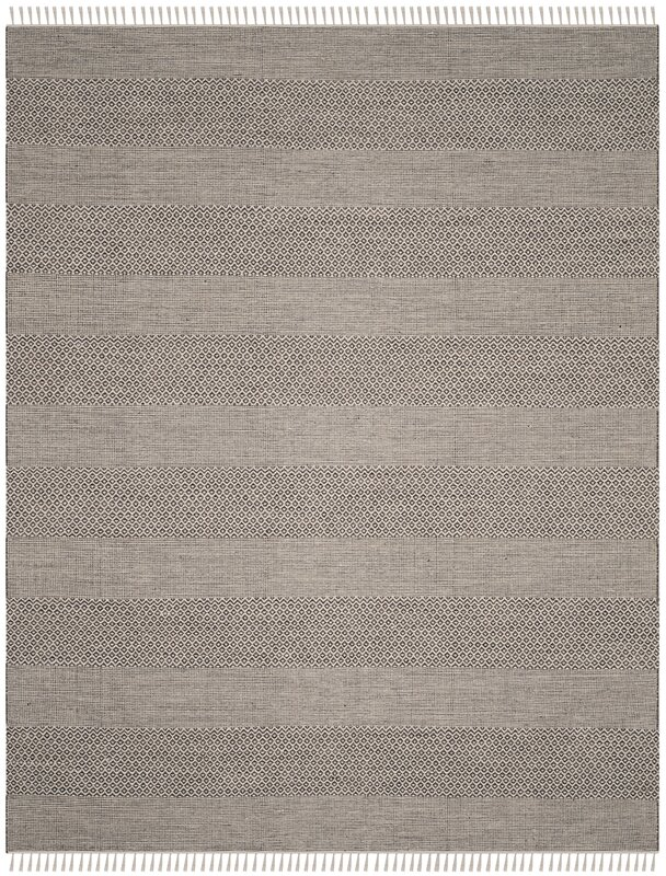 Oxbow Hand-Woven Ivory/Anthracite Area Rug
