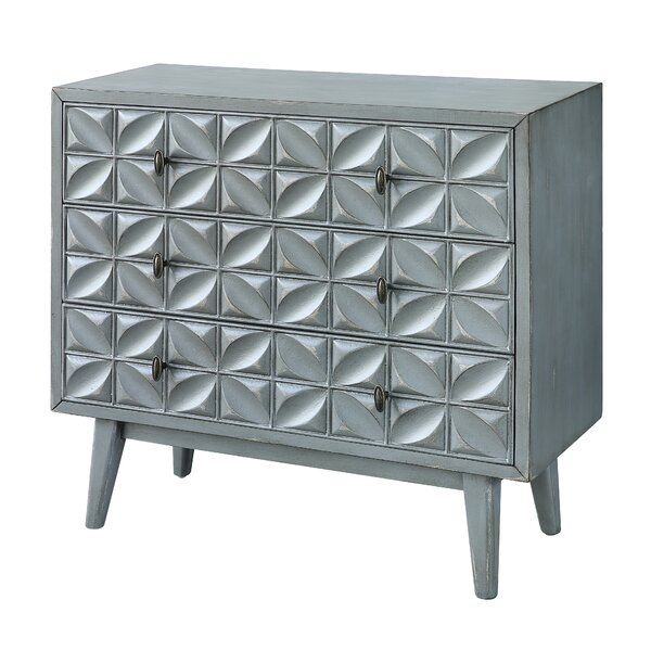 Malcom 3 Drawer Standard Dresser by Bungalow Rose