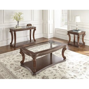 Albers 3 Piece Coffee Table Set Fleur De Lis Living