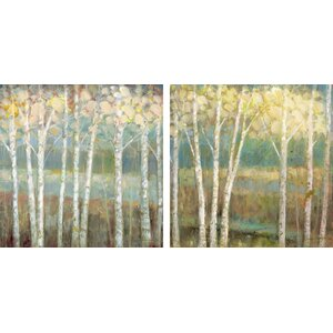 Nature's Palette I & II by Ruane Manning 2 Piece Painting Print on Canvas Set by Star Creations