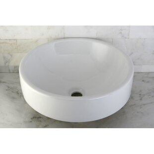 Shop For Zen Ceramic Circular Vessel Bathroom Sink ByKingston Brass