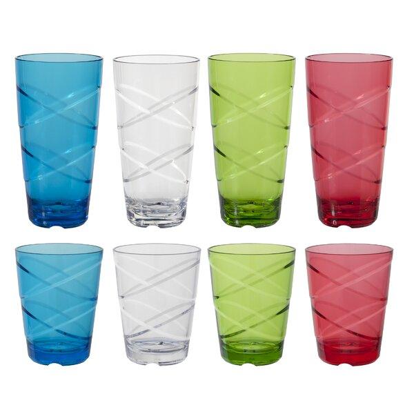 Sofia Circus 8-Piece Acrylic Assorted Glassware Set by Ebern Designs