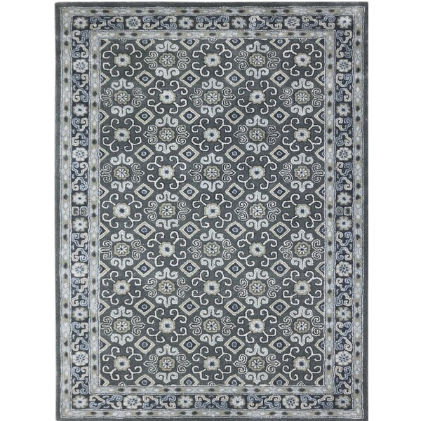 Paxtonville Hand-Tufted Gray Area Rug by Charlton Home
